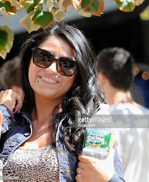 Andrew Dice Clay's wife Valerie Vasquez on location for the Untitled Woody Allen Summer Project on September 19 2012 in New York City
