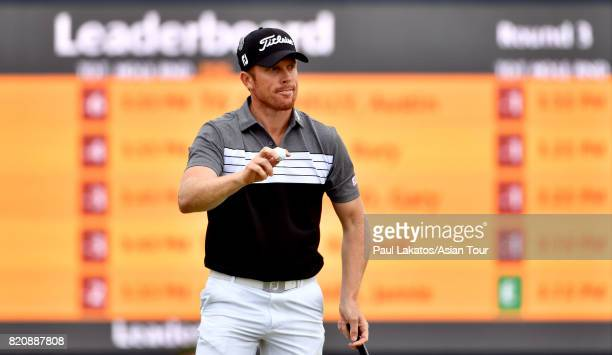 Andrew Dodt of Australia acknowledges the crowd on the 3rd green at Royal Birkdale on July 22 2017 in Southport England