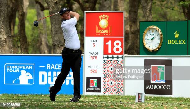 Andrew Dodt of Australia Bradley on the 18th tee during the second round of the Trophee Hassan II at Royal Golf Dar Es Salam on April 20 2018 in...
