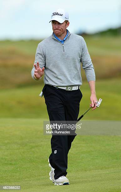 Andrew Dodt of Australia in action on the first tee during hi match with Oliver Fisher on the first day of the Saltire Energy Paul Lawrie Matchplay...