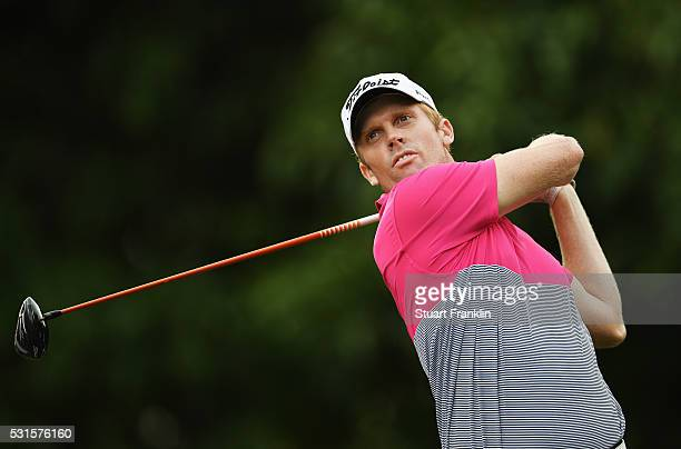Andrew Dodt of Australia plays a shot during the final round of AfrAsia Bank Mauritius Open at Four Seasons Golf Club Mauritius at Anahita on May 15...