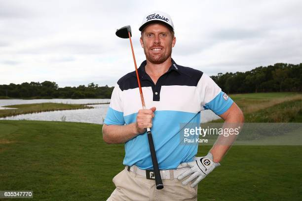 Andrew Dodt of Australia poses during previews ahead of the ISPS HANDA World Super 6 Perth at Lake Karrinyup Country Club on February 15 2017 in...