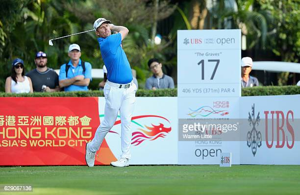 Andrew Dodt of Australia tees off on the 17th hole during the final round of the UBS Hong Kong Open at The Hong Kong Golf Club on December 11 2016 in...