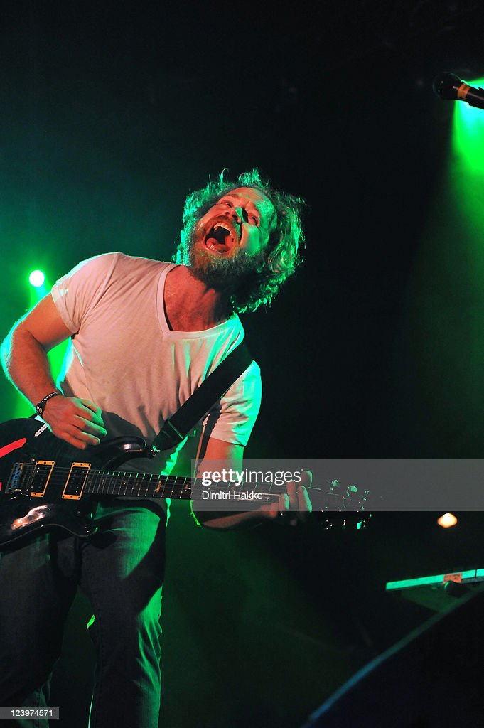 Andrew 'Drew' Goddard of Karnivool performs on stage at Lowlands Festival on August 21, 2011 in Biddinghuizen, Netherlands.