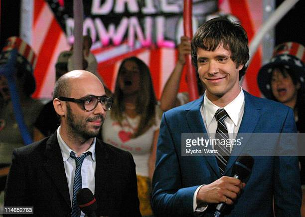 Andrew Duncan and Damian Kulash from the group OK Go