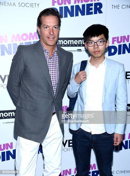 "Andrew Duncan and Joshua Wong attend the screening Of ""Fun Mom Dinner"" at Landmark Sunshine Cinema on August 1, 2017 in New York City."