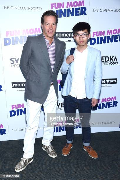 Andrew Duncan and Joshua Wong attend the screening Of Fun Mom Dinner at Landmark Sunshine Cinema on August 1 2017 in New York City