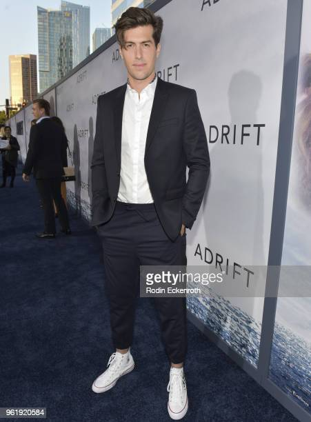 Andrew Duplessie arrives at the premiere of STX Films' 'Adrift' at Regal LA Live Stadium 14 on May 23 2018 in Los Angeles California