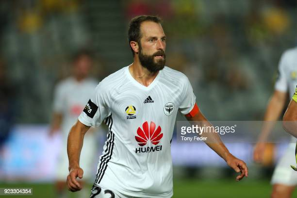 Andrew Durante of the Phoenix during the round 21 ALeague match between the Central Coast Mariners and the Wellington Phoenix at Central Coast...