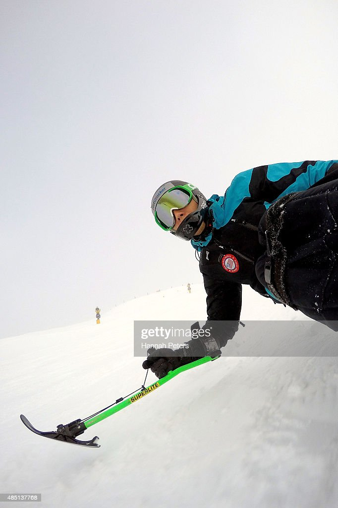Andrew Earl Kurka of the United States practices ahead of the Men Giant Slalom Sitting LW12-1 in the IPC Alpine Adaptive Giant Slalom Southern Hemisphere Cup during the Winter Games NZ at Coronet Peak on August 25, 2015 in Queenstown, New Zealand.