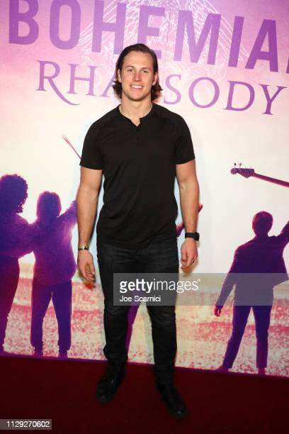 Andrew East attends Bohemian Rhapsody's Get Loud Extravaganza at Whiskey a Go Go on February 12 2019 in Los Angeles California
