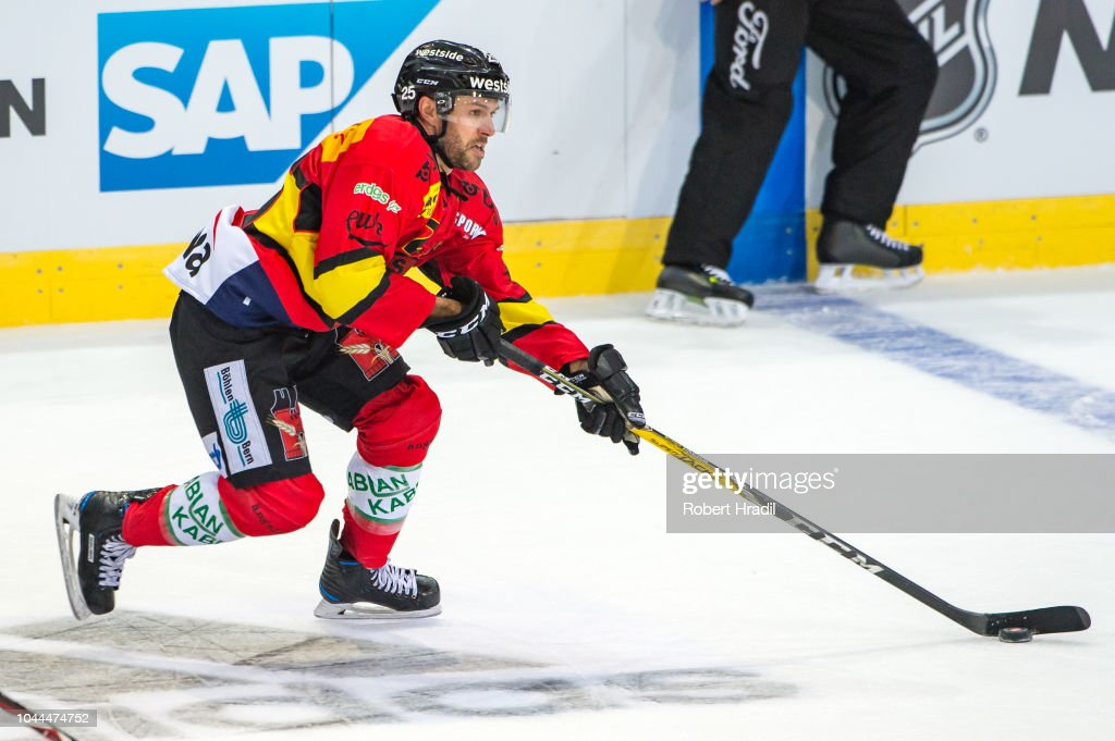 best service af369 59739 Andrew Ebbett of SC Bern in action during the NHL Global ...