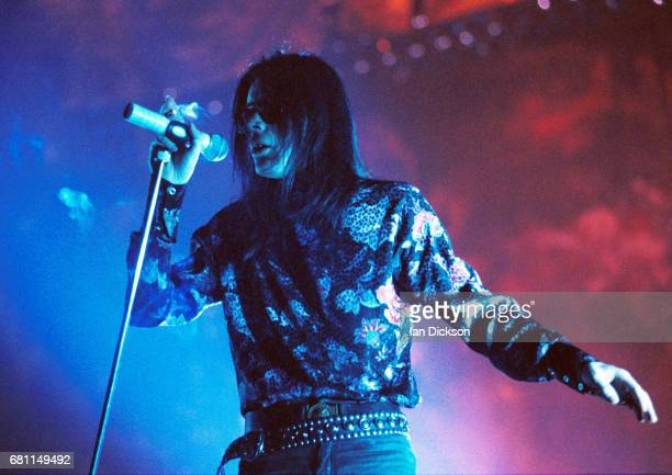 Andrew Eldritch of Sisters Of Mercy performing on stage London 1993