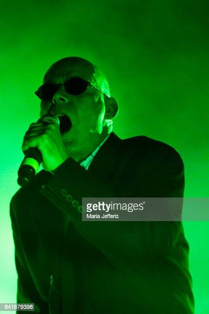 Andrew Eldritch of The Sisters of Mercy performs at The Roundhouse on September 1 2017 in London England