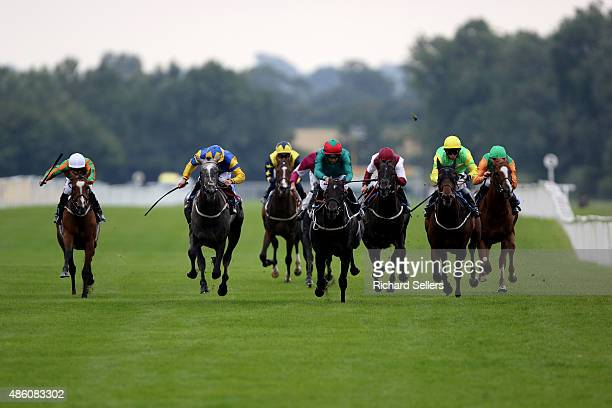 Andrew Elliot rides Whitman to victory during the Irish Champions weekend EBFRipon Champion two year olds at Ripon racecourse on August 31 2015 in...