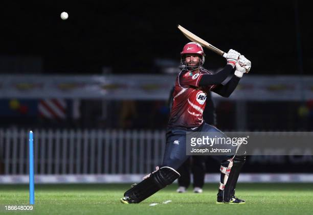 Andrew Ellis of the Canterbury Wizards batting during the HRV Twenty20 match between Canterbury Wizards and Otago Volts on November 2 2013 in...