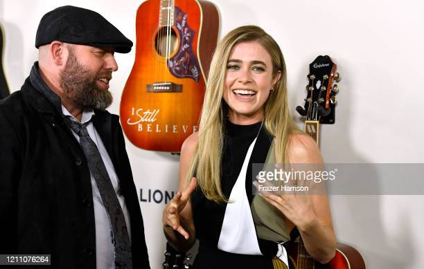 """Andrew Erwin, Melissa Roxburgh attend the Premiere Of Lionsgate's """"I Still Believe"""" at ArcLight Hollywood on March 07, 2020 in Hollywood, California."""