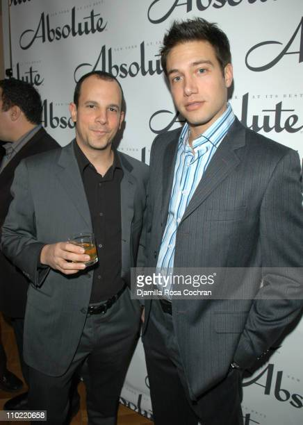 Andrew Essex and Eric Villency during Absolute Magazine Launch Party at One Central Park Condominuims in New York City, New York, United States.