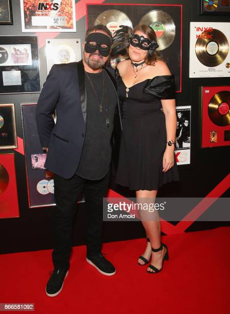 Andrew Farriss and Josie Farriss arrive ahead of the INXS Masquerade Party at State Theatre on October 26 2017 in Sydney Australia