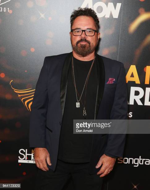 Andrew Farriss arrives ahead of the 2018 APRA Music Awards at ICC Sydney on April 10 2018 in Sydney Australia