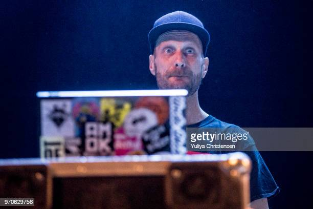 Andrew Fearn of Sleaford Mods onstage at the Northside Festival on June 9 2018 in Aarhus Denmark