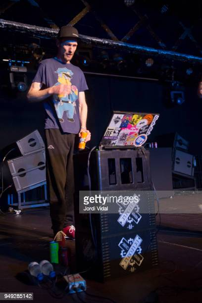 Andrew Fearn of Sleaford Mods performs on stage at Razzmatazz on April 20 2018 in Barcelona Spain