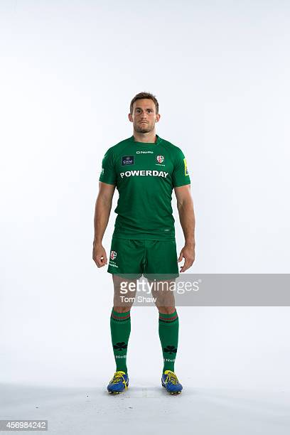 Andrew Fenby of London Irish poses for a picture during the BT PhotoShoot at Sunbury Training Ground on August 27 2014 in Sunbury England