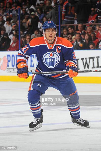 Andrew Ference of the Edmonton Oilers skates on the ice in a game against the Montreal Canadiens on October 27 2014 at Rexall Place in Edmonton...