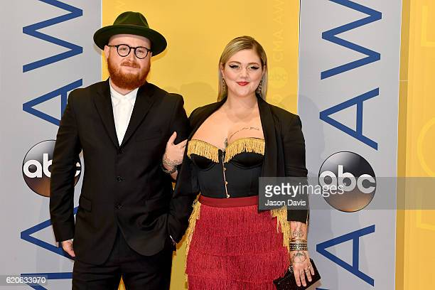 """Andrew """"Fergie"""" Ferguson and singersongwriter Elle King attend the 50th annual CMA Awards at the Bridgestone Arena on November 2 2016 in Nashville..."""