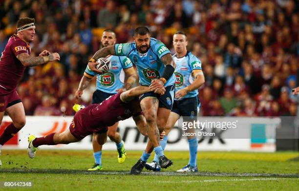 Andrew Fifita of the Blues in action during game one of the State Of Origin series between the Queensland Maroons and the New South Wales Blues at...