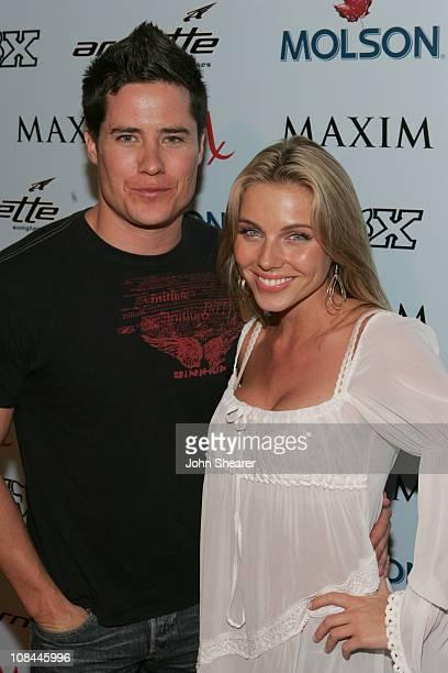 Andrew Firestone and Ivana Bozilovic during Maxim Magazine Celebrates The 2005 XGames at Cabana Club in Los Angeles California United States