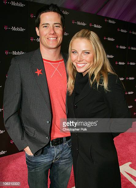Andrew Firestone and Ivana Bozilovic during TMobile NBA AllStar 2006 Party at TMobile Tent in Houston Texas United States