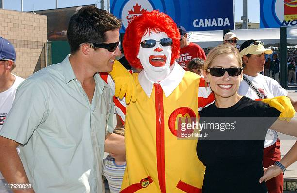 Andrew Firestone Ronald McDonald and Jen Schefft during FIFA Women's World Cup USA 2003 Andrew Firestone and Jen Schefft Attend the Final Match at...
