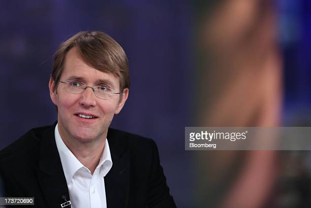 Andrew Fisher chairman of Shazam Entertainment Ltd speaks during a Bloomberg Television interview in London UK on Wednesday July 17 2013 Billionaire...