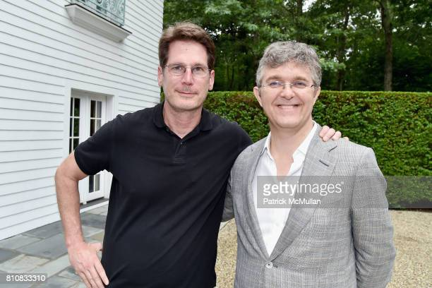 Andrew Flach and Jeffrey Bradford attend Katrina and Don Peebles Host NY Mission Society Summer Cocktails at Private Residence on July 7 2017 in...