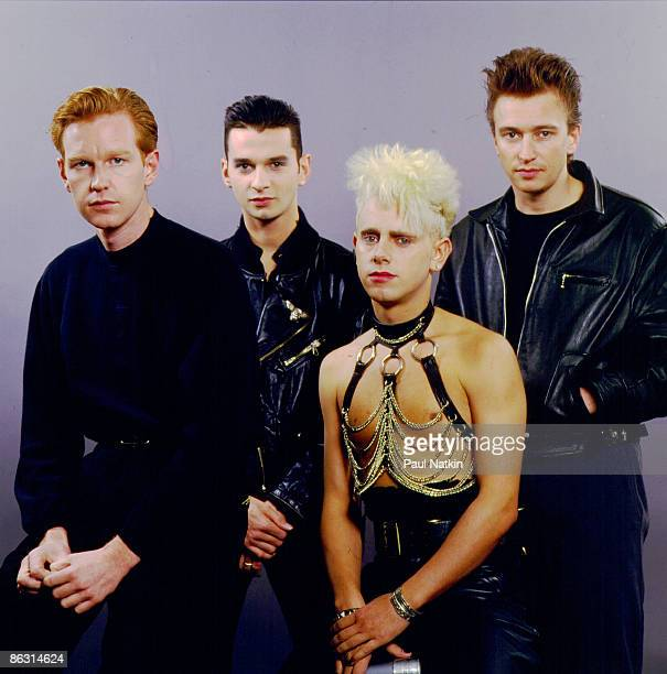 Andrew Fletcher Dave Gahan Alan Wilder and Martin Gore of Depeche Mode on 12/7/87 in Chicago IL