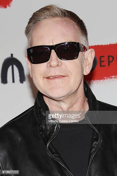 Andrew Fletcher of Depeche Mode attends a photocall to launch the Global Spirit Tour on October 11 2016 in Milan Italy