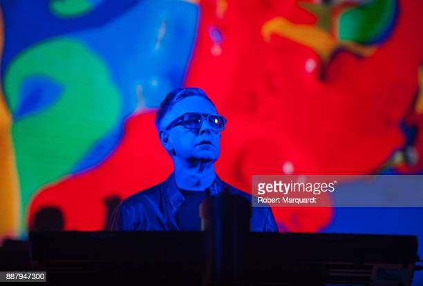 Andrew Fletcher of Depeche Mode performs on stage at the Palau Sant Jordi on December 7 2017 in Barcelona Spain