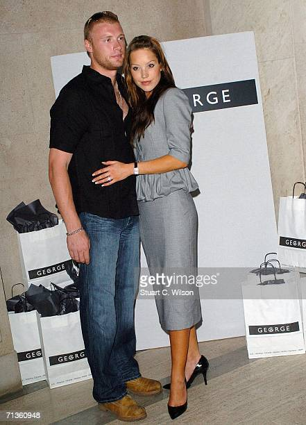 Andrew Flinfoff and wife Rachel Flintoff attend the George Autumn/Winter fashion preview for their 'Must Have' range at Victoria House Bloomsbury...