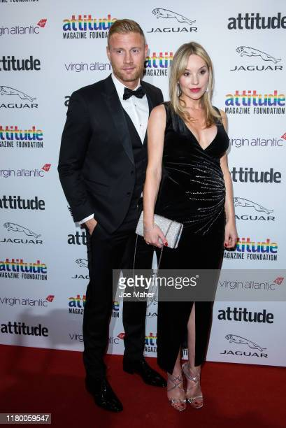 Andrew Flintoff and Rachael Flintoff attend the 2019 Attitude Awards at The Roundhouse on October 09, 2019 in London, England.