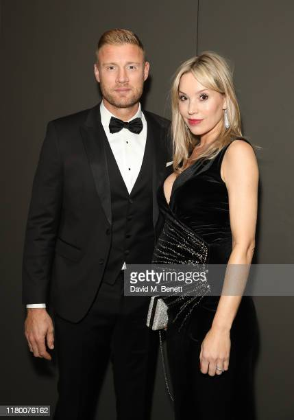 Andrew Flintoff and Rachael Flintoff attend the Virgin Atlantic Attitude Awards 2019 at The Roundhouse on October 09, 2019 in London, England.