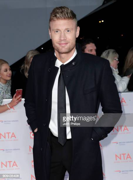 Andrew Flintoff attends the National Television Awards 2018 at the O2 Arena on January 23 2018 in London England