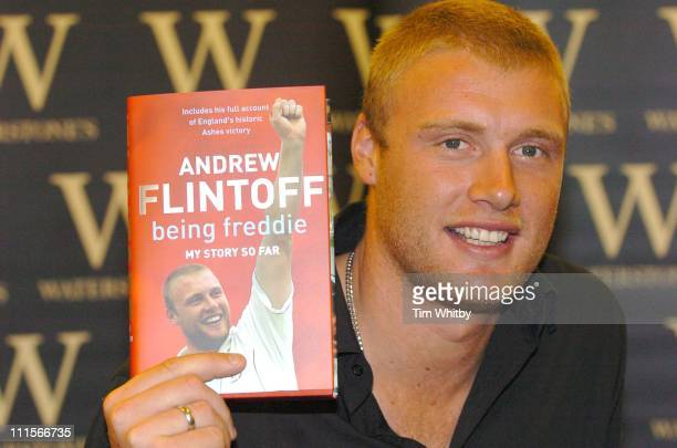Andrew Flintoff during Andrew Flintoff Signs His Book 'Being Freddie' at Waterstone's in London October 27 2005 at Waterstones 311 Oxford Street in...