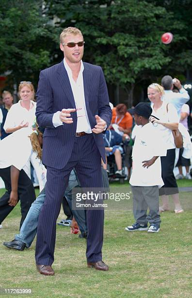 Andrew Flintoff during BGC Partners Fundraising Event Photocall September 11 2006 at Canary Wharf in London Great Britain