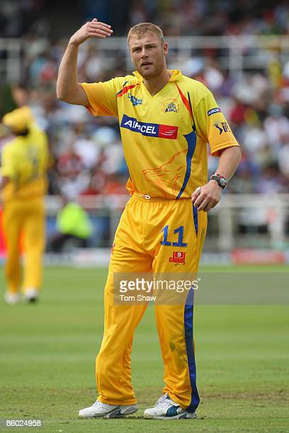 Andrew Flintoff of Chennai during the IPL T20 match between Mumbai Indians and Chennai Super Kings at Newlands Cricket Ground on April 18 2009 in...
