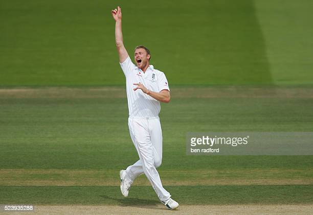 Andrew Flintoff of England appeals during the fifth day of the 2nd Ashes test match between England and Australia at Lord's Cricket Ground in London...
