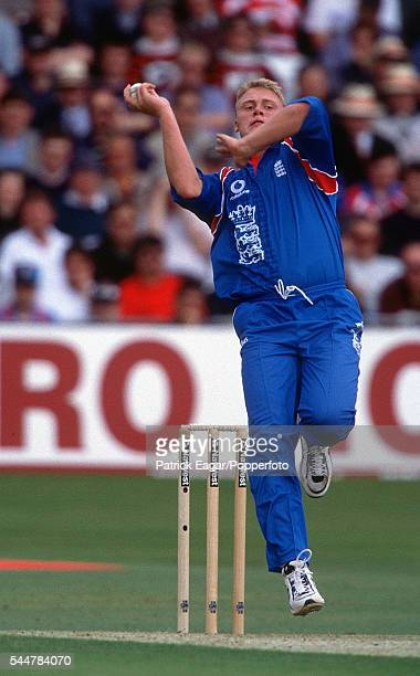 Andrew Flintoff of England bowling during the ICC Cricket World Cup group match between England and Zimbabwe at at Trent Bridge Nottingham 25th May...