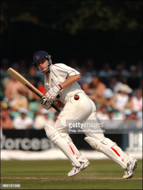 Andrew Flintoff of Lancashire sets off for a run during the CG Trophy Semi Final between Worcestershire and Lancashire at New Road Worcester 9th...