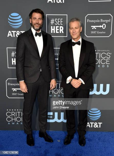 Andrew Form and Brad Fuller attend the 24th Annual Critics' Choice Awards at Barker Hangar on January 13 2019 in Santa Monica California