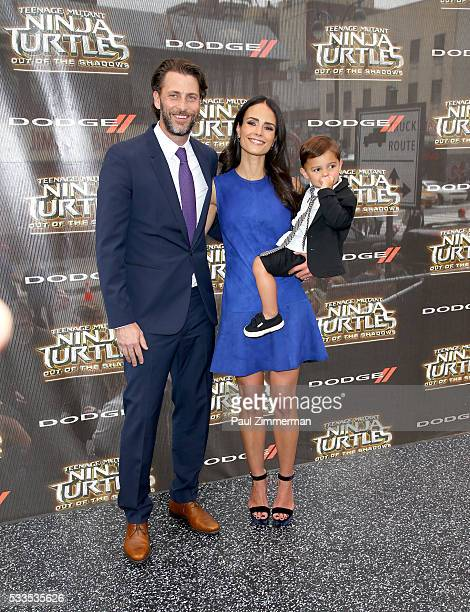 Andrew Form Jordana Brewster and Julian FormBrewsterl attend the 'Teenage Mutant Ninja Turtles Out Of The Shadows' world premiere at Madison Square...